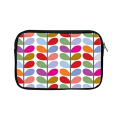 Colorful Bright Leaf Pattern Background Apple iPad Mini Zipper Cases