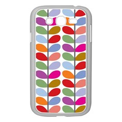 Colorful Bright Leaf Pattern Background Samsung Galaxy Grand DUOS I9082 Case (White)