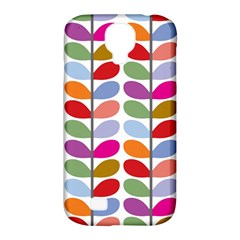 Colorful Bright Leaf Pattern Background Samsung Galaxy S4 Classic Hardshell Case (PC+Silicone)