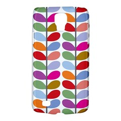 Colorful Bright Leaf Pattern Background Galaxy S4 Active