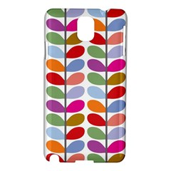 Colorful Bright Leaf Pattern Background Samsung Galaxy Note 3 N9005 Hardshell Case