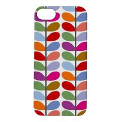 Colorful Bright Leaf Pattern Background Apple iPhone 5S/ SE Hardshell Case