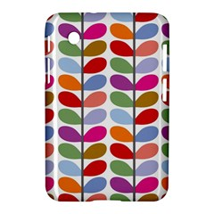 Colorful Bright Leaf Pattern Background Samsung Galaxy Tab 2 (7 ) P3100 Hardshell Case