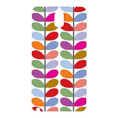 Colorful Bright Leaf Pattern Background Samsung Galaxy Note 3 N9005 Hardshell Back Case