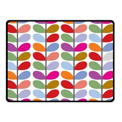 Colorful Bright Leaf Pattern Background Double Sided Fleece Blanket (Small)