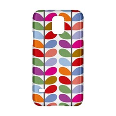 Colorful Bright Leaf Pattern Background Samsung Galaxy S5 Hardshell Case