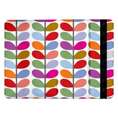 Colorful Bright Leaf Pattern Background Samsung Galaxy Tab Pro 12 2  Flip Case