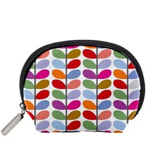 Colorful Bright Leaf Pattern Background Accessory Pouches (small)
