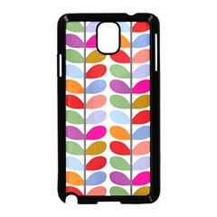 Colorful Bright Leaf Pattern Background Samsung Galaxy Note 3 Neo Hardshell Case (Black)