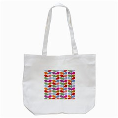 Colorful Bright Leaf Pattern Background Tote Bag (White)