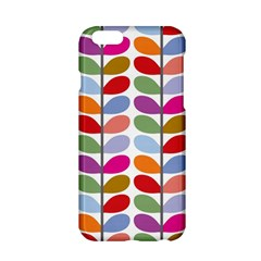 Colorful Bright Leaf Pattern Background Apple iPhone 6/6S Hardshell Case