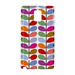 Colorful Bright Leaf Pattern Background Samsung Galaxy Note 4 Hardshell Case