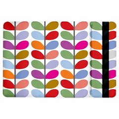 Colorful Bright Leaf Pattern Background iPad Air 2 Flip
