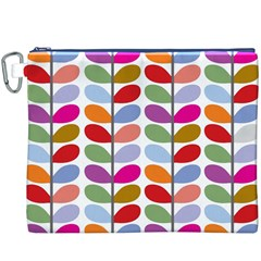 Colorful Bright Leaf Pattern Background Canvas Cosmetic Bag (XXXL)
