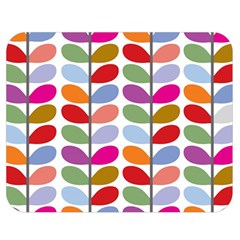Colorful Bright Leaf Pattern Background Double Sided Flano Blanket (medium)