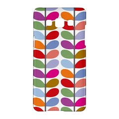 Colorful Bright Leaf Pattern Background Samsung Galaxy A5 Hardshell Case