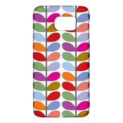 Colorful Bright Leaf Pattern Background Galaxy S6
