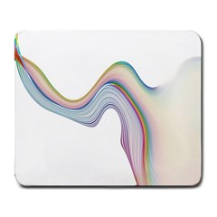 Abstract Ribbon Background Large Mousepads
