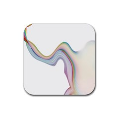 Abstract Ribbon Background Rubber Coaster (Square)