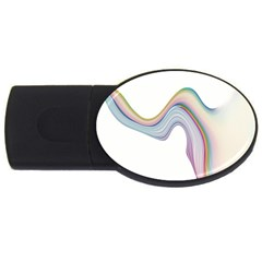Abstract Ribbon Background USB Flash Drive Oval (2 GB)