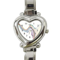 Abstract Ribbon Background Heart Italian Charm Watch