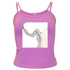 Abstract Ribbon Background Dark Spaghetti Tank