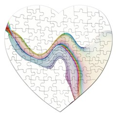 Abstract Ribbon Background Jigsaw Puzzle (Heart)