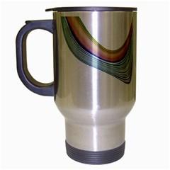 Abstract Ribbon Background Travel Mug (silver Gray)