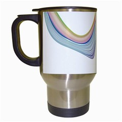 Abstract Ribbon Background Travel Mugs (white)