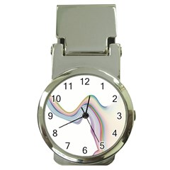 Abstract Ribbon Background Money Clip Watches