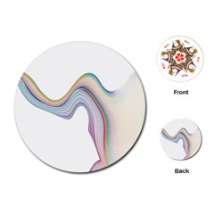 Abstract Ribbon Background Playing Cards (round)