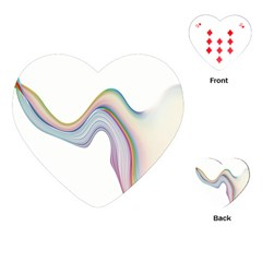 Abstract Ribbon Background Playing Cards (Heart)