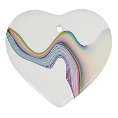 Abstract Ribbon Background Heart Ornament (two Sides)