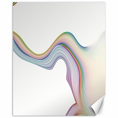 Abstract Ribbon Background Canvas 11  X 14