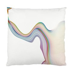 Abstract Ribbon Background Standard Cushion Case (Two Sides)