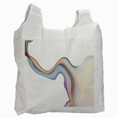 Abstract Ribbon Background Recycle Bag (Two Side)