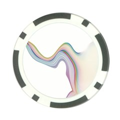 Abstract Ribbon Background Poker Chip Card Guard (10 Pack)