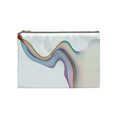 Abstract Ribbon Background Cosmetic Bag (medium)