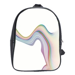 Abstract Ribbon Background School Bags(large)