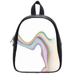 Abstract Ribbon Background School Bags (small)