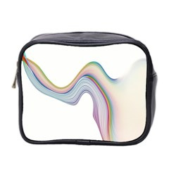 Abstract Ribbon Background Mini Toiletries Bag 2 Side