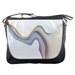 Abstract Ribbon Background Messenger Bags