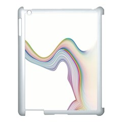 Abstract Ribbon Background Apple iPad 3/4 Case (White)