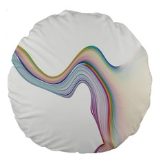 Abstract Ribbon Background Large 18  Premium Round Cushions