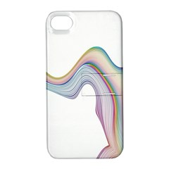 Abstract Ribbon Background Apple iPhone 4/4S Hardshell Case with Stand