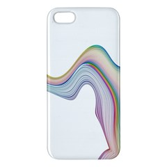 Abstract Ribbon Background Apple Iphone 5 Premium Hardshell Case