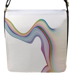 Abstract Ribbon Background Flap Messenger Bag (S)