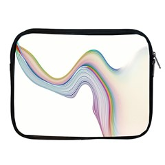 Abstract Ribbon Background Apple iPad 2/3/4 Zipper Cases
