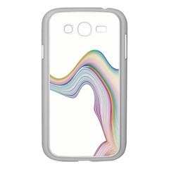 Abstract Ribbon Background Samsung Galaxy Grand DUOS I9082 Case (White)