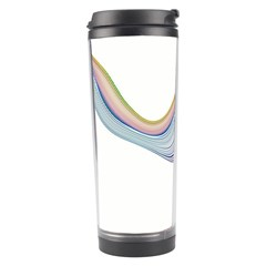 Abstract Ribbon Background Travel Tumbler